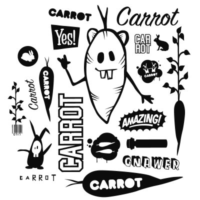 carrot skateboards tshirt graphic